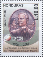 [Airmail - The 100th Anniversary of the Death of Juan Ramon Molina, type ASF]