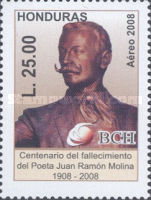 [Airmail - The 100th Anniversary of the Death of Juan Ramon Molina, type ASG]