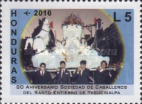 [Airmail - The 80th Anniversary of the Knights of the Holy Burial of Tegucigalpa Society, Typ AWC]