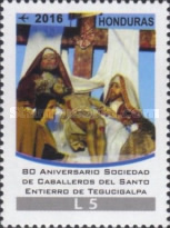 [Airmail - The 80th Anniversary of the Knights of the Holy Burial of Tegucigalpa Society, Typ AWD]