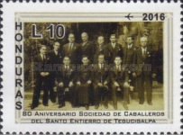 [Airmail - The 80th Anniversary of the Knights of the Holy Burial of Tegucigalpa Society, Typ AWE]