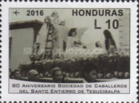 [Airmail - The 80th Anniversary of the Knights of the Holy Burial of Tegucigalpa Society, Typ AWG]