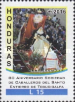 [Airmail - The 80th Anniversary of the Knights of the Holy Burial of Tegucigalpa Society, Typ AWH]