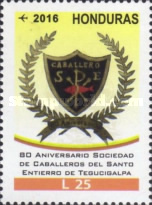 [Airmail - The 80th Anniversary of the Knights of the Holy Burial of Tegucigalpa Society, Typ AWI]