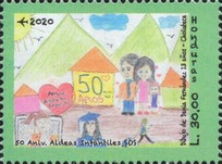 [The 50th Anniversary of the SOS Children's Village in Honduras, type AZL]