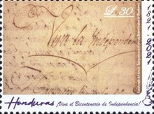 [The 200th Anniversary of Independence from Spain, type AZP]