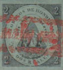 [No. 1 & 2 Surcharged - Comayagua Issue, with Frame, type B]