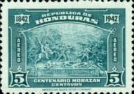[Airmail - The 100th Anniversary of the Death of General Francisco Morazan, type CL]