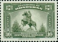 [Airmail - The 100th Anniversary of the Death of General Francisco Morazan, type CO]