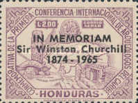 [Airmail - Churchill Commemoration - Previous Issues Overprinted