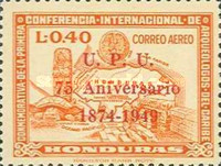 [Airmail - The 75th Anniversary of U.P.U. - Previous Issues Overprinted