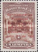 [Airmail - Founding of Central Bank - Previous Issues Overprinted