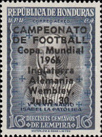 [Airmail - Football World Cup - England - Final Match between England and West Germany - Previous Issues Overprinted
