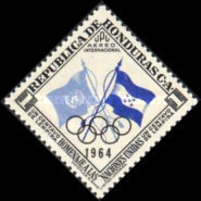 [Airmail - Pre-Olympic Games - Previous Issues Overprinted with Olympic Rings and 1964, type EH1]
