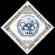 [Airmail - Pre-Olympic Games - Previous Issues Overprinted with Olympic Rings and 1964, type EI1]