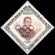 [Airmail - Pre-Olympic Games - Previous Issues Overprinted with Olympic Rings and 1964, type EL2]