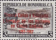"""[Airmail - The 200th Anniversary of the Birth of Simeon Canas y Villacorta - Previous Issues Overprinted """"Simeon Canas y Villacorta Libertador de los esclavos en Centro America 1767-1967"""", type ES1]"""