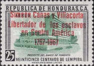 """[Airmail - The 200th Anniversary of the Birth of Simeon Canas y Villacorta - Previous Issues Overprinted """"Simeon Canas y Villacorta Libertador de los esclavos en Centro America 1767-1967"""", type FB1]"""