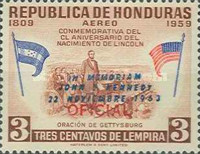 [Airmail - Presidential Investiture of General Lopez - Previous Issues Overprinted