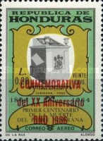 """[Airmail - Pope Paul's Visit to U.N. Organisation - Previous Issues Overprinted """"CONMEMORATIVA Visita S. S. Pablo VI a la ONU. 4-X-1965"""", Typ GT1]"""