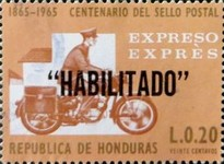 "[Previous Stamp Overprinted ""HABILITADO"", Typ HN1]"