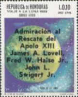 "[Airmail - Safe Return of ""Apollo 13"" - Overprinted ""Admiracion al Rescate del Apolo XIII, James A. Lovell, Fred W. Haise Jr., John L. Swigert Jr."", Typ IH1]"