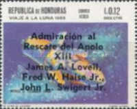 "[Airmail - Safe Return of ""Apollo 13"" - Overprinted ""Admiracion al Rescate del Apolo XIII, James A. Lovell, Fred W. Haise Jr., John L. Swigert Jr."", Typ II1]"