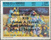 "[Airmail - Safe Return of ""Apollo 13"" - Overprinted ""Admiracion al Rescate del Apolo XIII, James A. Lovell, Fred W. Haise Jr., John L. Swigert Jr."", Typ IJ3]"