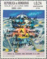 "[Airmail - Safe Return of ""Apollo 13"" - Overprinted ""Admiracion al Rescate del Apolo XIII, James A. Lovell, Fred W. Haise Jr., John L. Swigert Jr."", Typ IK2]"
