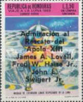 "[Airmail - Safe Return of ""Apollo 13"" - Overprinted ""Admiracion al Rescate del Apolo XIII, James A. Lovell, Fred W. Haise Jr., John L. Swigert Jr."", Typ IK3]"