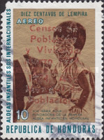 [Airmail - Census and World Population Year - Various Stamps Overprinted