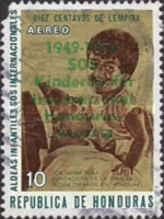 "[Airmail - The 25th Anniversary of Honduras' Children's Villages - Previous Issues Overprinted ""1949-1974 SOS Kinderdorfer Internacional Honduras-Austria"", Typ JG3]"