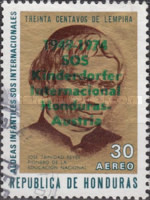 "[Airmail - The 25th Anniversary of Honduras' Children's Villages - Previous Issues Overprinted ""1949-1974 SOS Kinderdorfer Internacional Honduras-Austria"", Typ JI3]"