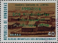 "[Airmail - The 25th Anniversary of Honduras' Children's Villages - Previous Issues Overprinted ""1949-1974 SOS Kinderdorfer Internacional Honduras-Austria"", Typ JJ2]"