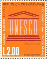 [Airmail - The 25th Anniversary of U.N.E.S.C.O. and Juan Ramon Molina Commemoration, Typ JQ]