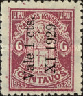"[Not Issued Stamp Surcharged ""Vale 1 Cts XI 1929"", Typ K1]"