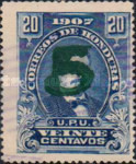 [Issue of 1907 Surcharged, type M10]