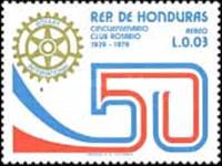 [Airmail - The 50th Anniversary of Tegucigalpa Rotary Club, Typ NH]