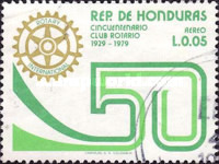 [Airmail - The 50th Anniversary of Tegucigalpa Rotary Club, Typ NH1]