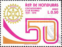 [Airmail - The 50th Anniversary of Tegucigalpa Rotary Club, Typ NH2]