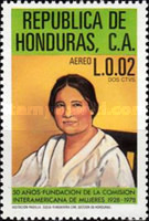 [Airmail - The 50th Anniversary of Inter-American Women's Commission, type OF]