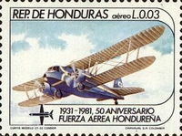 [Airmail - The 50th Anniversary of Honduras Air Force, type OS]