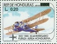 [Airmail - Previous Issue Surcharged, Typ OS1]