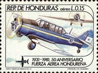 [Airmail - The 50th Anniversary of Honduras Air Force, type OT]