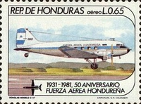 [Airmail - The 50th Anniversary of Honduras Air Force, type OV]