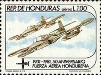 [Airmail - The 50th Anniversary of Honduras Air Force, type OW]