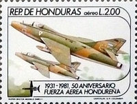 [Airmail - The 50th Anniversary of Honduras Air Force, type OX]