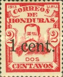 [General Terencio Sierra and General Manuel Bonilla - Stamps of 1913 Surcharged, type P4]