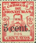 [General Terencio Sierra and General Manuel Bonilla - Stamps of 1913 Surcharged, Typ P5]