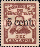 [General Terencio Sierra - Stamp of 1913 Surcharged, type P8]